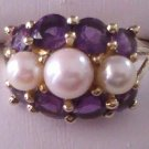 Peal and Amethyst Ring R-1212