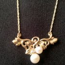 Double Pearl Necklace  N-2120