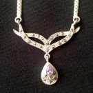 Sterling and amethyst Necklace   N-2100