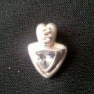 aquamarine pendant in silver  N-2111