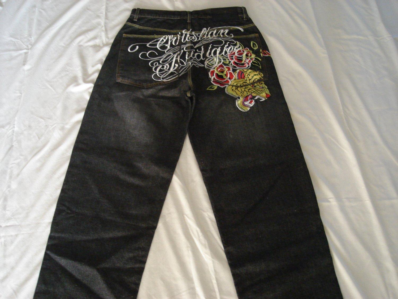 christian audigier long jeans pants brand new size 34