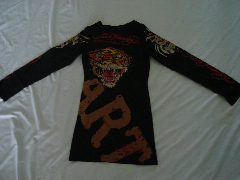 ED Hardy long sleeve womens dress shirt Size M