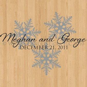 Dance Floor Decals Winter Romance