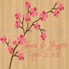 Dance Floor Decals Pink Cherry Blossom