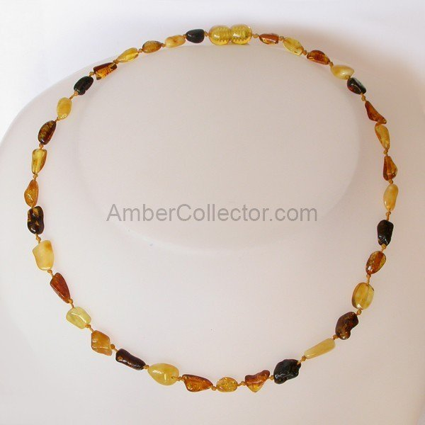 BEANS Baby teething Baltic amber beads necklace