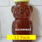 SAVE 20% - 12pk Buckwheat Honey 12 x 12oz btls. Item # BCK-12