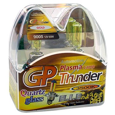 9005 HB3 Golden Yellow 3500K GP Thunder Xenon Driving Light Bulbs