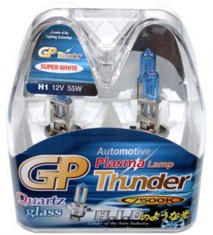 H1 Super White 7500K GP Thunder Xenon Plasma Light Bulbs