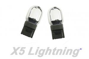 X5 Lightning 7440 992 T20 Silver Chrome Wedge Amber Light Bulbs