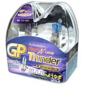 H1 Plasma White GP Thunder 8500k 55W Standard Wattage Head Light Bulbs