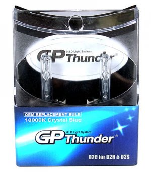 GP Thunder D2C D2R/D2S 10,000K Crystal  Blue HeadLight Bulbs Acura Benz BMW Nissan Toyata