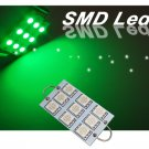 GP Thunder 1142 211-2 561 562 564 44mm 9-SMD LED Green Rigid Loop Light Bulb