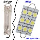 GP Thunder 1142 211-2 561 562 564 44mm 9-SMD LED Amber Rigid Loop Light Bulb