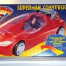 SUPERMAN 1996 ANIMATED SERIES RED CONVERSION COUPE WITH EXCLUSIVE CLARK KENT ACTION FIGURE