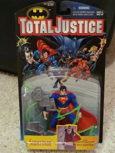 DC SUPERHEROES TOTAL JUSTICE SUPERMAN 5 INCH SCALE ACTION FIGURE 1996 KENNER HASBRO
