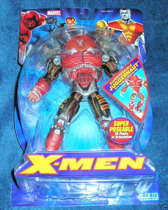 MARVEL LEGENDS X-MEN CLASSICS SUPER POSEABLE JUGGERNAUT ACTION FIGURE 2006 TOYBIZ