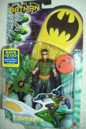 BATMAN DC SUPERHEROES BATTLE BOARD ROBIN GREEN VARIANT 6 INCH ACTION FIGURE 2003 MATTEL