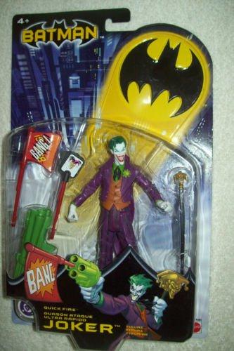 BATMAN DC SUPERHEROES QUICK FIRE JOKER 6 INCH ACTION FIGURE 2003 MATTEL DARK KNIGHT