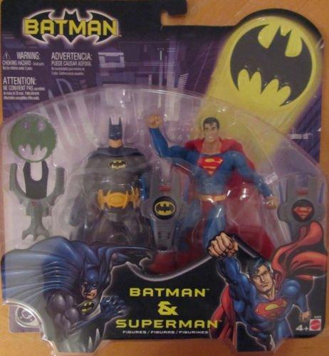 DC SUPERHEROES BATMAN & SUPERMAN 6 INCH ACTION FIGURE 2 PACK 2003 MATTEL DAWN JUSTICE LEAGUE