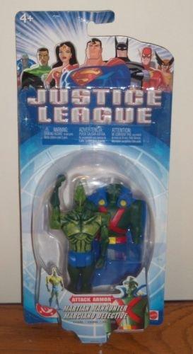 JUSTICE LEAGUE ATTACK ARMOR MARTIAN MANHUNTER ACTION FIGURE 2003 MATTEL