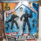 MARVEL LEGENDS TOYS R US EXCLUSIVE STEALTH ARMOR IRON MAN & SHARON CARTER ACTION FIGURE 2 PK HASBRO
