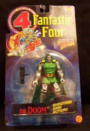 FANTASTIC FOUR ANIMATED SERIES DR. DOOM ACTION FIGURE 1994 TOYBIZ