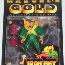 MARVEL COMICS MARVEL GOLD COLLECTOR'S EDITION SERIES IRON FIST ACTION FIGURE 1997 TOYBIZ AVENGERS