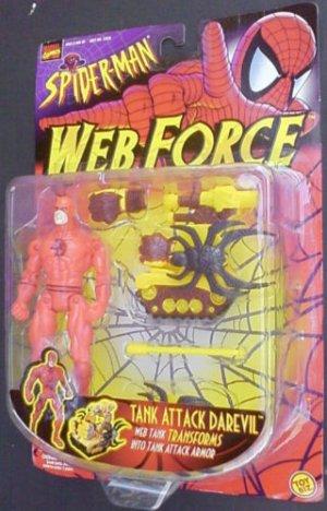 SPIDERMAN WEB FORCE TANK ATTACK DAREDEVIL ACTION FIGURE 1997 TOYBIZ