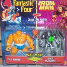 FANTASTIC FOUR & IRON MAN ANIMATED THING / WAR MACHINE ACTION FIGURE 2 PACK 1995 TOYBIZ WALMART EXCL
