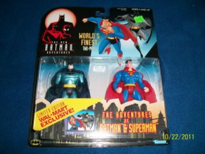 BATMAN SUPERMAN ANIMATED WORLD'S FINEST BATMAN & SUPERMAN ACTION FIGURE 2 PACK 1998 KENNER HASBRO
