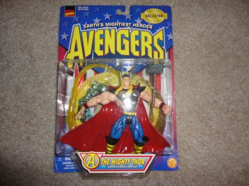 New in Box 1997 ToyBiz Marvel Collector Editions Avengers The Mighty Thor Action Figure