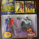 LEGENDS OF BATMAN PIRATE BATMAN & PIRATE TWO FACE ACTION FIGURE 2 PACK 1995 KENNER HASBRO