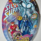 SILVER SURFER COSMIC POWER ALIEN FIGHTERS WITH PIP THE TROLL ACTION FIGURE 1998 TOYBIZ