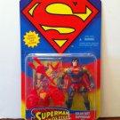 SUPERMAN MAN OF STEEL SOLAR SUIT SUPERMAN ACTION FIGURE 1995 KENNER HASBRO