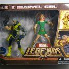 MARVEL LEGENDS WALMART EXCLUSIVE CABLE & MARVEL GIRL ACTION FIGURE 2 PACK HASBRO 2007 NEW X-FORCE