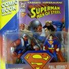 SUPERMAN MAN OF STEEL FULL ASSAULT SUPERMAN VS MASSACRE ACTION FIGURE 2 PACK 1995 KENNER HASBRO