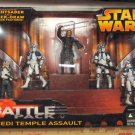 STAR WARS REVENGE OF THE SITH ROTS KMART EXCLUSIVE JEDI TEMPLE ASSAULT BATTLE PACK 501ST