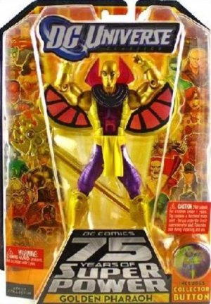 *Damaged Package* DC Universe Wave 15 GOLDEN PHARAOH figure Validus figure stand