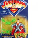 SUPERMAN ANIMATED TORNADO FORCE SUPERMAN ACTION FIGURE 1998 KENNER HASBRO