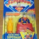 SUPERMAN ANIMATED ELECTRO ENERGY SUPERMAN ACTION FIGURE 1996 KENNER HASBRO