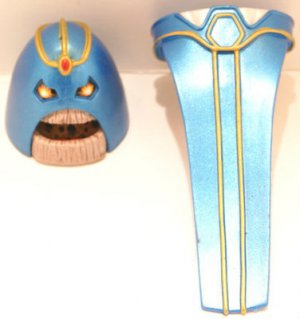 DC UNIVERSE CLASSICS LOOSE ANTI-MONITOR HEAD & LOWER TORSO BUILD A FIGURE PIECES SERIES ONLY 17