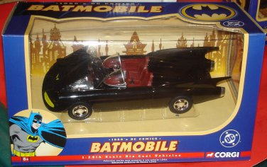 BATMAN 1960s DC COMICS BLACK BATMOBILE CORGI DIECAST 1:24th SCALE VEHICLE 2005 MODEL #77505