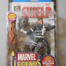 MARVEL LEGENDS SERIES 5 NICK FURY ACTION FIGURE W/ DISPLAY STAND BASE WALL MOUNT COMIC S.H.I.E.L.D.