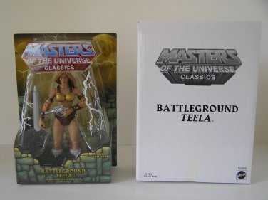 MASTERS OF THE UNIVERSE CLASSICS BATTLEGROUND TEELA ACTION FIGURE HE-MAN SHE-RA BATTLE GROUND