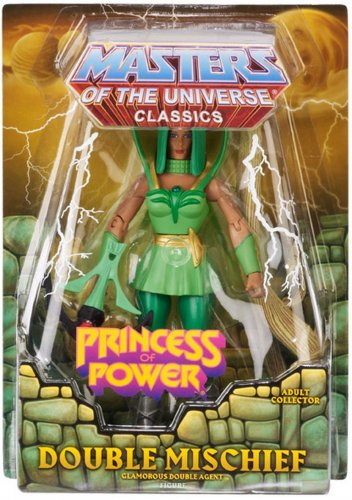 MASTERS OF THE UNIVERSE CLASSICS DOUBLE MISCHIEF ACTION FIGURE HE-MAN SHE-RA MATTEL CLUB EXCLUSIVE
