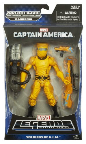 MARVEL LEGENDS CAPTAIN AMERICA INFINITE SERIES 1 SOLDIERS OF A.I.M. SOLDIER 2014 MANDROID ARM AIM