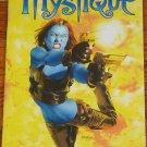 MARVEL LEGENDS SENTINEL SERIES WAVE 10 MYSTIQUE FULL COLOR POSTER BOOK 2005 TOYBIZ