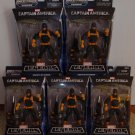 MARVEL LEGENDS CAPTAIN AMERICA INFINITE SERIES 1 LOT OF 5 H.Y.D.R.A. HYDRA SOLDIERS 2014 MANDROID