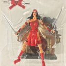 MARVEL LEGENDS SERIES WAVE 4 LOOSE ELEKTRA ACTION FIGURE W/ DISPLAY STAND BASE WALL MOUNT TOYBIZ