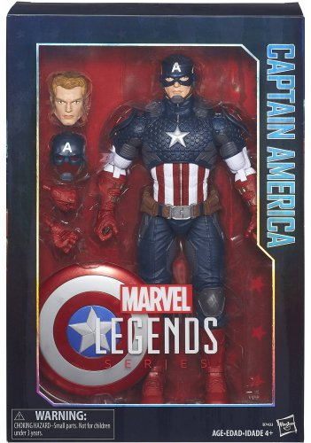 MARVEL LEGENDS SERIES 12 INCH CAPTAIN AMERICA ACTION FIGURE HASBRO 2016 AVENGERS STEVE ROGERS ICONS